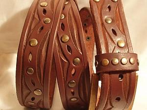 Делаем кожаный ремень. Ярмарка Мастеров - ручная работа, handmade.
