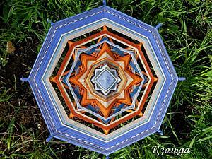 Плетение индейской мандалы Ojos de Dios | Ярмарка Мастеров - ручная работа, handmade