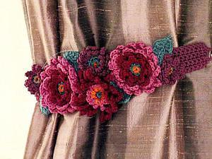 Копилка идей для вязания: подхваты для штор | Ярмарка Мастеров - ручная работа, handmade