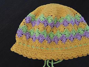 Модели летних вязаных шапочек для девочек | Ярмарка Мастеров - ручная работа, handmade