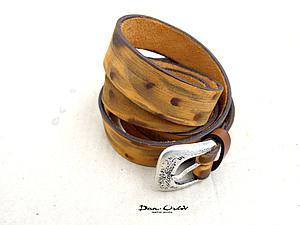 Пояс-ремень из кожи своими руками. Ярмарка Мастеров - ручная работа, handmade.