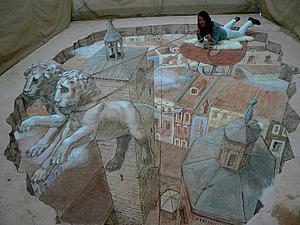 Классные 3D рисунки на асфальте | Ярмарка Мастеров - ручная работа, handmade