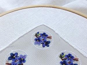 Шелковая канва для вышивки