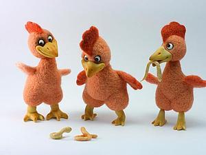 Курицы и цыпочки - сухое валяние миниатюрной игрушки | Ярмарка Мастеров - ручная работа, handmade