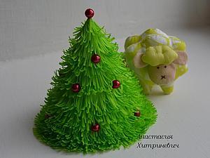 Мастер-класс по созданию новогодней елочки из фоамирана | Ярмарка Мастеров - ручная работа, handmade