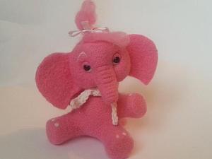 Мастер-класс: розовый слоник в технике сухого валяния. Ярмарка Мастеров - ручная работа, handmade.