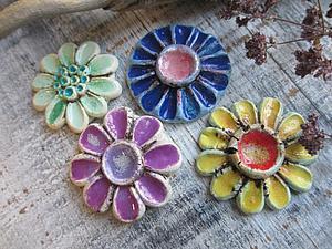 Имитация керамики с помощью полимерной глины и низкотемпературной эмали | Ярмарка Мастеров - ручная работа, handmade
