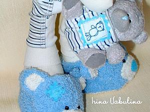Шьем Тедди-тапочки для куклы. Ярмарка Мастеров - ручная работа, handmade.