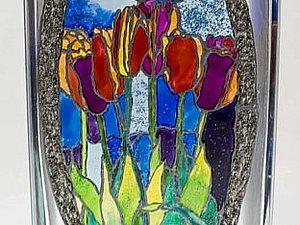 Витражная роспись стекла   Ярмарка Мастеров - ручная работа, handmade