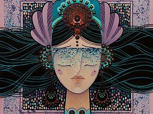Художник Олеся Дубовик: холсты, зеркала и жужжание пчелы. Ярмарка Мастеров - ручная работа, handmade.
