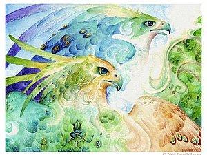 Птицы счастья от Brenda Lyons | Ярмарка Мастеров - ручная работа, handmade
