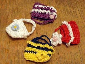 Вязаные сумочки для кукол. Очень простые.. Ярмарка Мастеров - ручная работа, handmade.