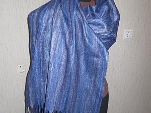 Мастер-класс по изготовлению шарфа-паутинки | Ярмарка Мастеров - ручная работа, handmade