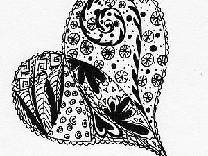 Рисунок Zentangle | Ярмарка