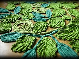 Элементы для новой работы сцепным полотном (из хлопка крючком), handmade