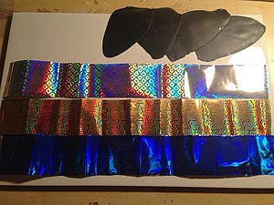 Перевод голографической пленки на полимерную глину. Ярмарка Мастеров - ручная работа, handmade.