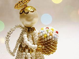 Мастерим пасхального ангела из булавок и бисера. Ярмарка Мастеров - ручная работа, handmade.
