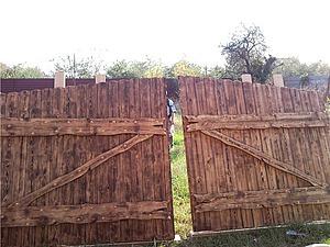 Ворота и калитка из искусственно состаренного дерева, а также люстра из остатков.. Ярмарка Мастеров - ручная работа, handmade.