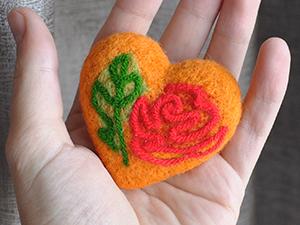 Рисуем пряжей: сердце Валентина. Ярмарка Мастеров - ручная работа, handmade.