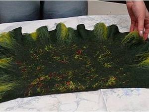 Валяем клатч с рюшками. Ярмарка Мастеров - ручная работа, handmade.