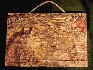 Имитация старого дерева на гипсе | Ярмарка Мастеров - ручная работа, handmade
