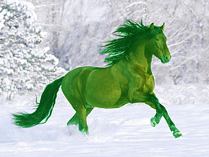 В чем встретить Год Лошади 2014 (зеленый цвет) | Ярмарка Мастеров - ручная работа, handmade