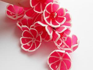Видео мастер-класс: цветочки-чашечки из полимерной глины. Ярмарка Мастеров - ручная работа, handmade.