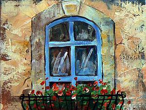 Пишем картину «Окно», используя акрил и текстурную пасту. Ярмарка Мастеров - ручная работа, handmade.
