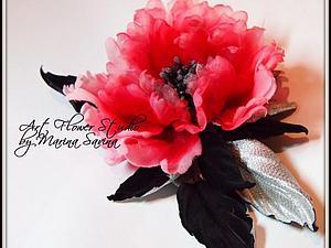 Мастер-класс цветы из шёлка, тема: Фантазийная роза