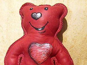 Кожаный медвежонок.   Ярмарка Мастеров - ручная работа, handmade