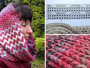 Утепляемся на осень. Вяжем снуд в технике объёмного вязания. Ярмарка Мастеров - ручная работа, handmade.