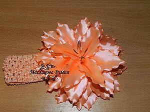 Мастерим лилию из атласной ленты   Ярмарка Мастеров - ручная работа, handmade