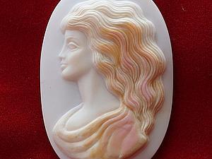 В моем магазине появились новые камеи из перламутра, выполненные в единственном экземпляре | Ярмарка Мастеров - ручная работа, handmade