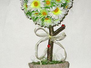 Декоративное дерево-сердце с ромашками. Ярмарка Мастеров - ручная работа, handmade.