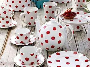 Посуда в горошек —  воплощение доброты. Ярмарка Мастеров - ручная работа, handmade.