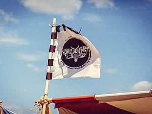 Изготовление флага  с эмблемой с помощью аэрографа. Ярмарка Мастеров - ручная работа, handmade.