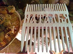 Пошаговое изготовление деревянного гребня с применением станка ЧПУ. Ярмарка Мастеров - ручная работа, handmade.