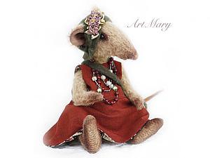 История крысы Клавдии. Шьем игрушку в стиле Тедди | Ярмарка Мастеров - ручная работа, handmade