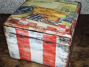 «Милая Вещица», полосатая шкатулка с многослойным старением   Ярмарка Мастеров - ручная работа, handmade