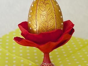Декорируем пасхальное яйцо, используя две техники. Ярмарка Мастеров - ручная работа, handmade.