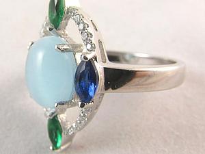 Аукцион! Серебряные кольца с натуральными камнями! 3 лота!   Ярмарка Мастеров - ручная работа, handmade