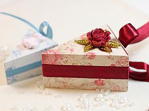 Коробочка тортик - сладкий праздник!. Ярмарка Мастеров - ручная работа, handmade.