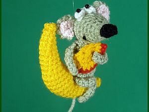 Вязаная мышка | Ярмарка Мастеров - ручная работа, handmade