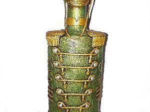 декорирование бутылки | Ярмарка Мастеров - ручная работа, handmade