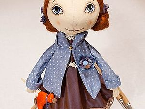 Кукла Тыквоголовка   Ярмарка Мастеров - ручная работа, handmade