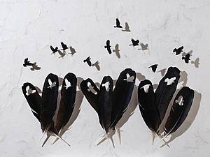 Птички из перьев Chris Maynard | Ярмарка Мастеров - ручная работа, handmade