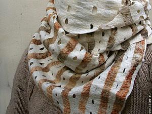 Шелк, окрашенный растениями, в нуно-войлоке | Ярмарка Мастеров - ручная работа, handmade