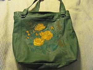 Кожаная сумка с авторской вышивкой