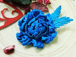 Работа с натуральной кожей: фантазийные цветы | Ярмарка Мастеров - ручная работа, handmade