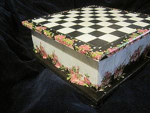 Декорируем шкатулку под шахматы: дамский вариант. Ярмарка Мастеров - ручная работа, handmade.